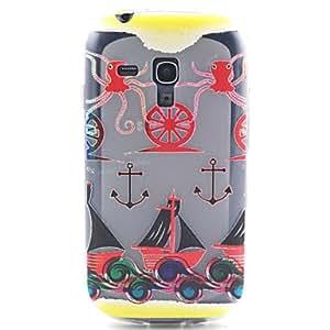 WQQ 4 Inch Hook Pattern TPU Soft Case Back Cover for Samsung GALAXY SIII Mini I8190N