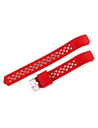 Watch Band, ABC For Fitbit Alta HR New Fashion Sports Silicone Bracelet Strap Band (Red)