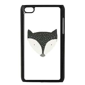 iPod Touch 4 Case Black fox in black Ufrdj