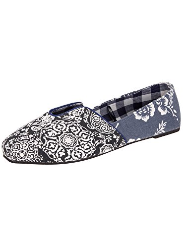 Collection 7910e Oodji Imprimes En Femme Coton Ballerines Bleu 1wRdaqUR