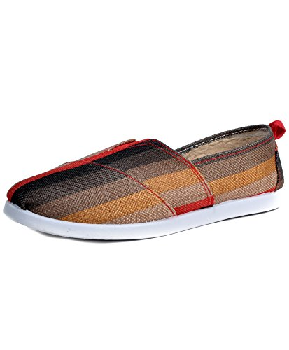 Women's Colorful Espadrilles Canvas Shoes (11, Red)