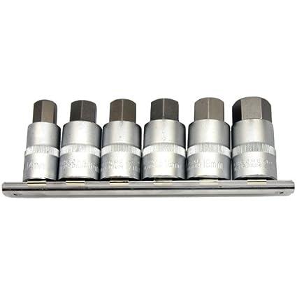 6 x Corto Fuerza llaves/destornillador Insertos de 14 - 22 mm ...
