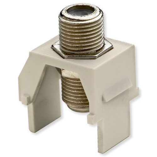 Legrand - On-Q WP3479LA NonRecessed Nickel FConnector, Light - Almond Connector Plate