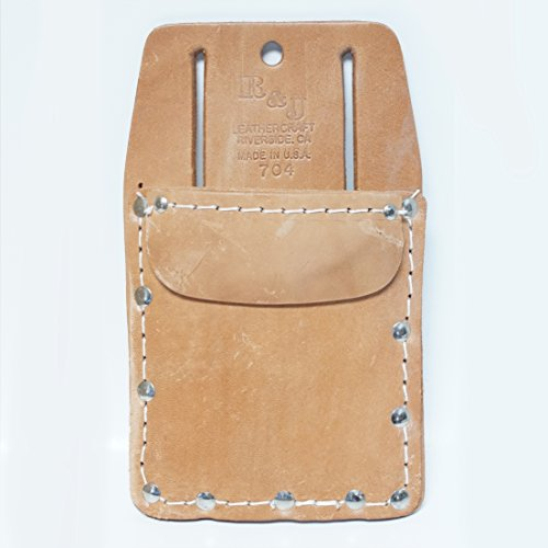 Leather Single Pocket Tool Pouch - Knife Pouch by R & J Leathercraft