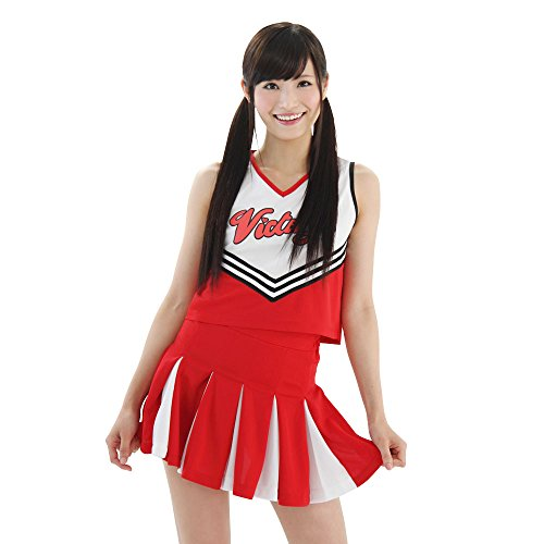My Cheerleader White ~ red cheerleader