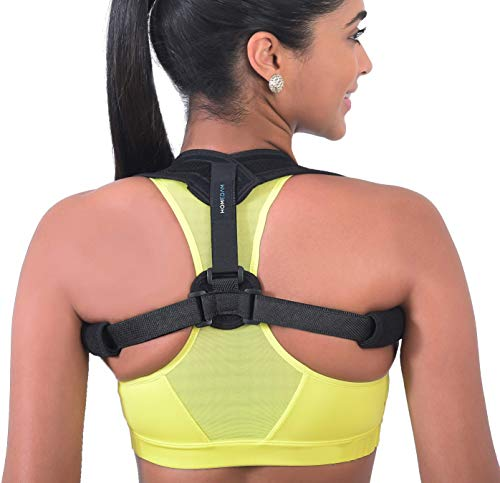 Back Posture Corrector for Women & Men - Adjustable & Comfortable Brace for Clavicle Pain Relief - Perfect Design for Shoulders Slouching & Hunching - Bonus Detachable Pads for Underarms Support