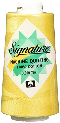 Signature 3 Ply Cotton Quilting Thread, 40wt/3000 yd, Buttercup
