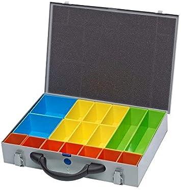 Organizador de tornillos de metal plateado para caja de herramientas, sistema de compartimentos, caja de fijación: Amazon.es: Bricolaje y herramientas
