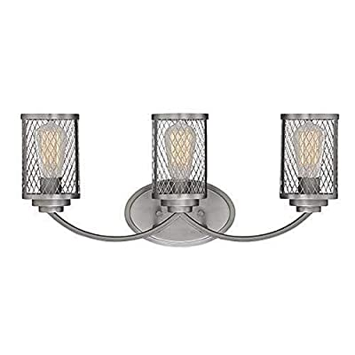 Millennium Lighting 3273-BPW Millennium:Three Light Vanity Akron 3-Light Bath Vanity In Brushed Pewter