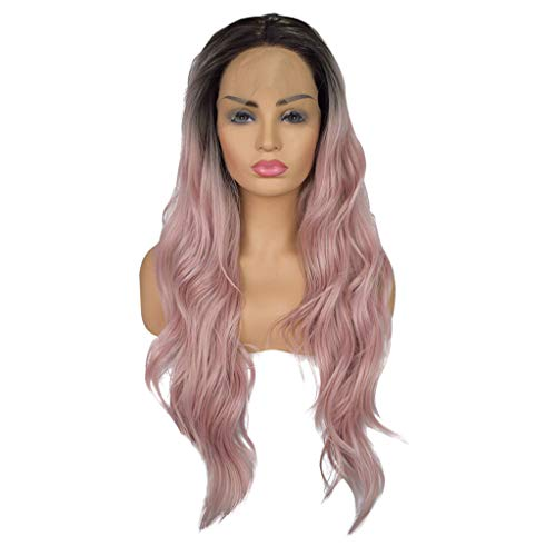 Lissom Women Hair Lace Front Wig Wavy Curly