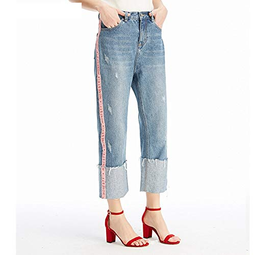 Cowboy neun Jeans Jeans Punkt gestreiften gestreiften Bequeme MVGUIHZPO Lose M Femme Neue Jeans PAd0qCq