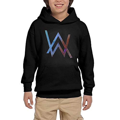 Vito H. Jackson Youth Hooded Sweatshirt Alan Walker Logo Personalized Fashion Customization Black L (Best Of Hoodie Allen)