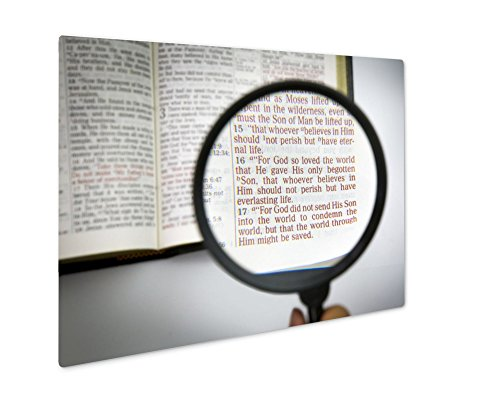 Ashley Giclee Metal Panel Print, Open Bible And Verses, Wall Art Decor, Floating Frame, Ready to Hang 16x20, AG6605362