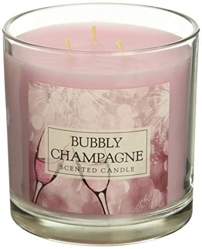 DII Home Traditions 3-Wick Evenly Burning Highly Scented 4x4 Large Jar Candle 45+ Hour Burn Time (14.5 oz) -Bubbly Champagne Scent -
