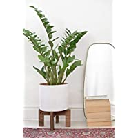 Mid Century Wood Plant Stand Indoor - Adjustable for pots from 8 to 10 Inches - Pedestal Century Modern Wooden Flower Planter Pot Holder Indoor for Corner Floor Living Room Bedroom - POT NOT INCLUDED