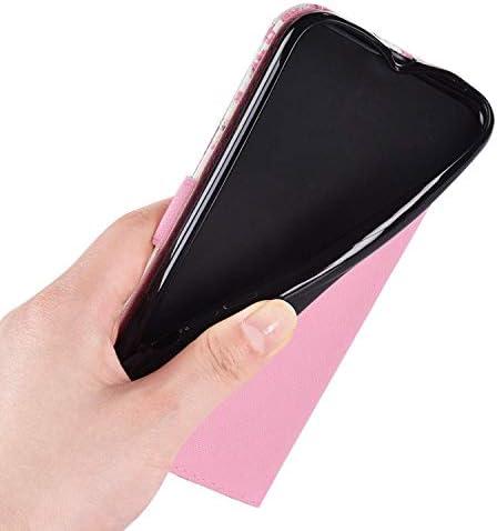 Uposao Kompatibel mit Samsung Galaxy J7 2017 Hülle Leder Handyhülle Glänzend Glitzer Bling Bunt Muster Wallet Hülle Klapphülle Brieftasche Schutzhülle Flip Case Magnet Kartenfach,Rosa Bär