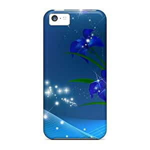 New Snap-on S.N.H Skin Case Cover Compatible With Iphone 5c- Iris So Blue