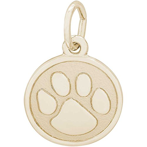 er Paw Charm, Gold Plated Silver (Gold Plated Tiger Charms)