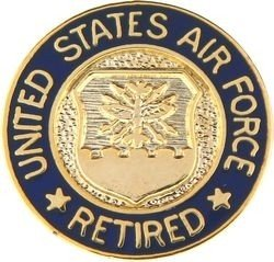 Amazon us air force retired 58 lapel pin toys games us air force retired 58quot lapel pin publicscrutiny Choice Image