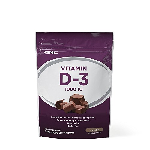 GNC Vitamin D-3 1000 IU, Chocolate, 60 Chews