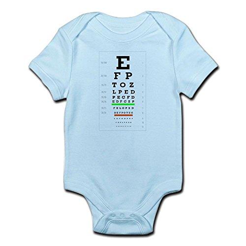 CafePress SnellenChart Body Suit - Cute Infant Bodysuit Baby (Snellen Type)