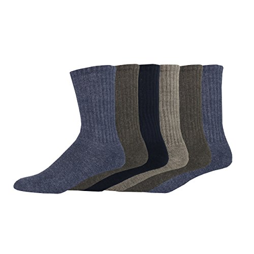 Dockers Basic Cushion Crew Socks, Navy, 6 Pair