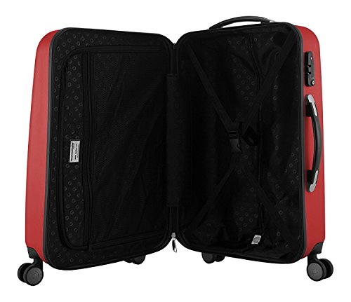 "HAUPTSTADTKOFFER - Wedding - Set of 3 Hard-side Luggage Glossy Suitcase Hardside Spinner Trolley Expandable (20"", 24"" & 28"") TSA Red by Hauptstadtkoffer (Image #4)"