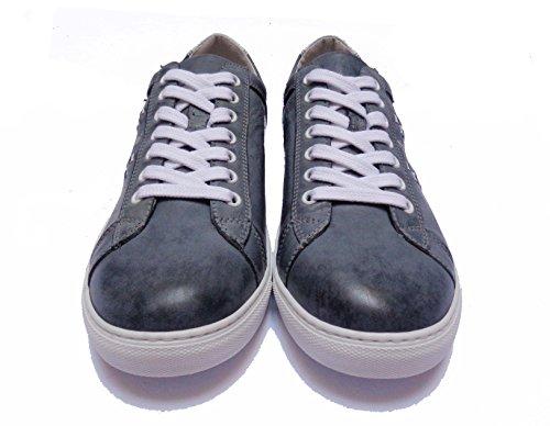 Nero Giardini - Zapatillas de Piel para hombre azul Jeans 42