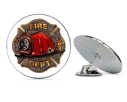 NYC Jewelers Fire Department Maltese Badge Metal 0.75