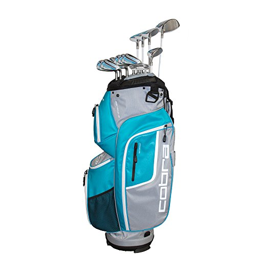 Cobra Women's 2018 F-Max Complete Set White-Blue, Dr, 3W, 5W, 7W, 5H, 6-PW, SW Putter