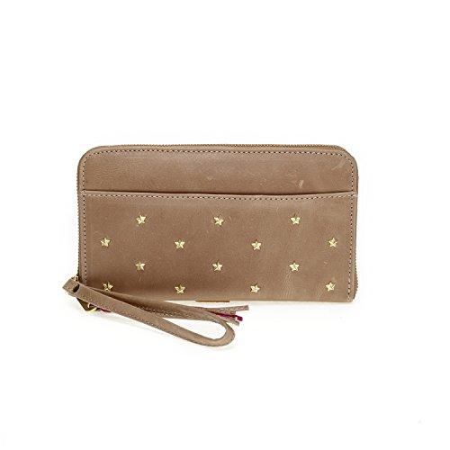 Fab by Fabienne Star stud purse big, Damen Baguette Blau glossy ocean blue metallic Better Than A Paper Bag Brown