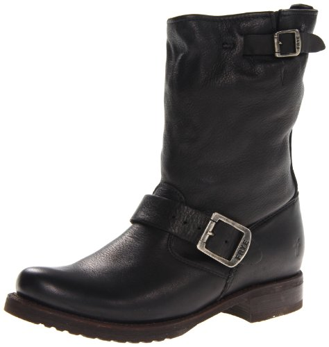 FRYE Women's Veronica Short Boot, Black Soft Vintage Leather, 10 M US ()