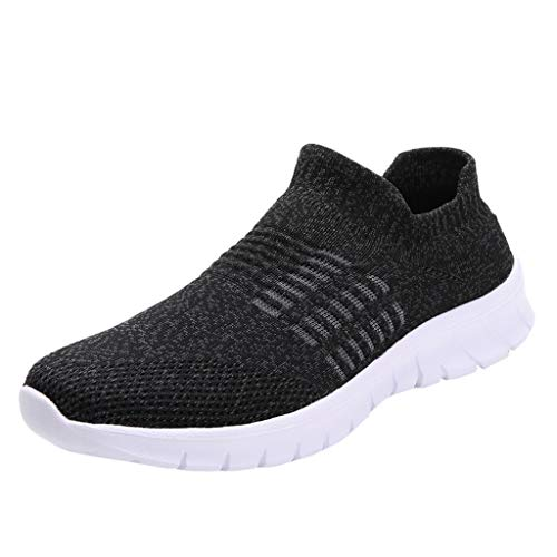 Women's Running Shoes Fashion Breathable Sneakers Mesh Soft Sole Casual Athletic Lightweight,Londony Work Sneakers Dark Gray
