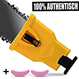 Anddicek Chainsaw Teeth Sharpener, Universal Chainsaw Sharpener Fast Sharp Sharpening Stone Grinder Tool Fit for 14' 16' 18' 20' Two Hole Chain Saw Blade Sharpener