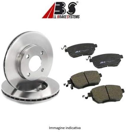 Kit de 2 discos de freno delanteros + Kit de 4 pastillas de freno delanteras ECP (ABS) Ecommerceparts 9145375014717