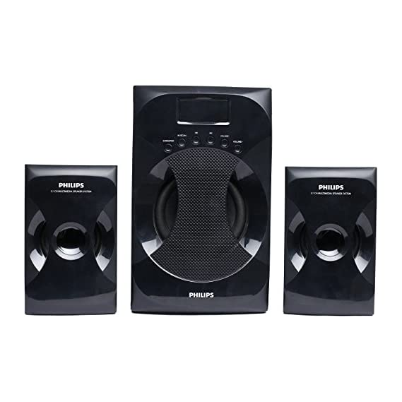 Philips MMS-4040F/94 2.1 Channel Multimedia Speaker System (Black)