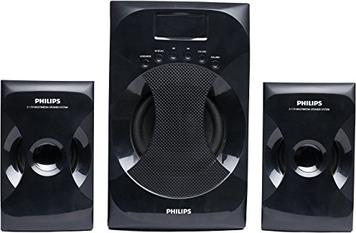 Philips MMS 4040F/94 2.1 Channel Multimedia Speaker System  Black