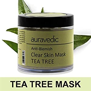 Auravedic Anti Blemish Clear Neem & Tea Tree Skin Mask, 100g