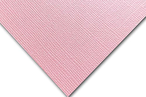 (Premium Pearlized Metallic Textured Pink Taffeta Card Stock 20 Sheets - Matches Martha Stewart Pink Taffetta - Great for Scrapbooking, Crafts, Flat Cards, DIY Projects, Etc. (12 x 12))