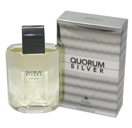 (Quorum Silver By Antonio Puig For Men. Aftershave 3.4)