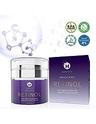 Retinol Cream, HOPEMATE Retinol Anti-Aging Moisturizer Cream for Face and Eye Care, Anti-Wrinkle Essence with Hyaluronic Acid, Vitamin E and Green Tea, Day and Night Cream, 1.7 Fl.Oz, 50ml