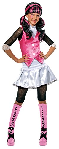 Girly Girl Costumes (Monster High Draculaura Costume - One Color - Medium)
