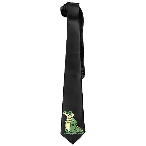 Corbatas de seda para hombre, diseño de cocodrilo, color negro ...
