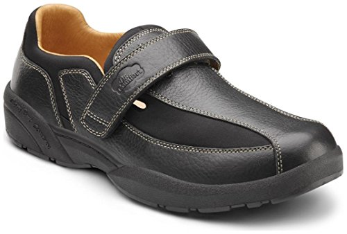 Dr. Comfort Douglas Men's Therapeutic Diabetic Extra Depth Shoe: Black 7.5 Medium (B/D) Velcro