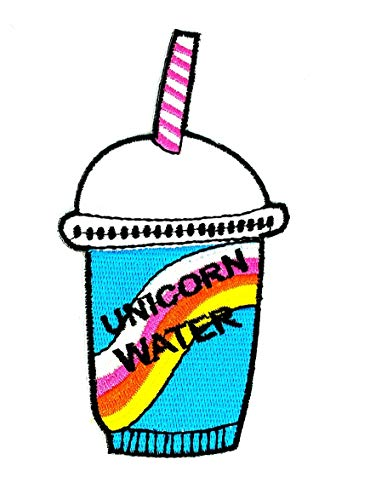 Blue Cup Ocean Water Drink Blue Hawaiian Punch Cocktail Fruity Cartoon Children Kid Patch Clothes Bag T-Shirt Jeans Biker Badge Applique Iron on/Sew On Patch ()