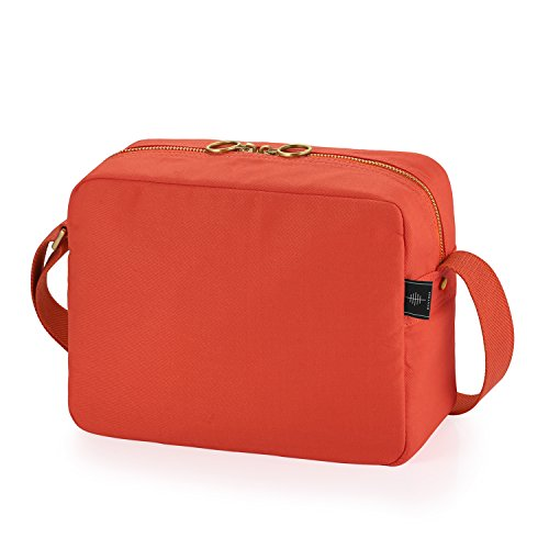 BONTHEE Shoulder Bag Casual Handbag Messenger Crossbody Bags with 8 Pockets Orange