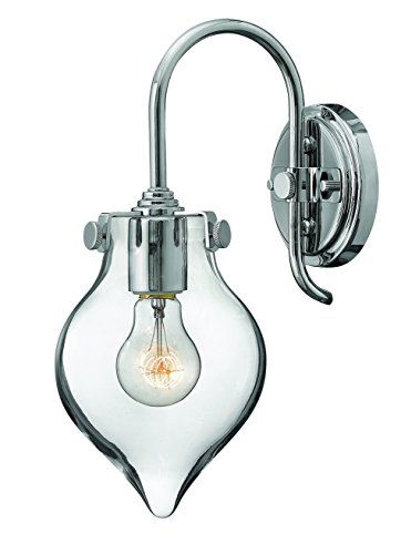 Hinkley 3177CM Restoration One Light Wall Sconce from Congress collection in Chrome, Pol. (Hinkley Chrome Sconce)