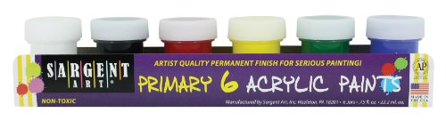 Sargent Art 66-5420 6-Jar Acrylic Colors