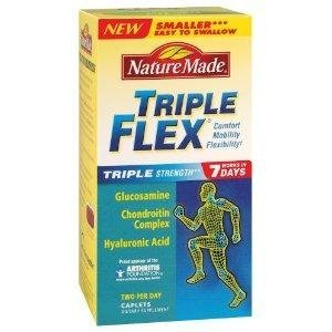 Nature Made® TripleFlex Glucosamine, Chondroitin Complex, MSM/Hyaluronic Acid, 150 Caps each (Pack of 3) (Chondroitin 150 Caps)