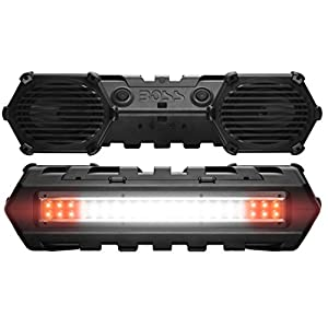 BOSS Audio ATVB69LED Bluetooth, Amplified, ATV/UTV Sound System, Weather-Proof Marine Grade, Bluetooth Remote, 12 Volt Application Friendly